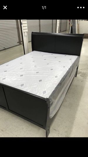 3 PCS BED SET (FULL or QUEEN) REAL WOOD BED, MATTRESS & BOX SPRING for Sale in Miami, FL