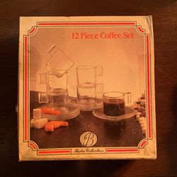 12 Piece Coffee Set Bistro Collection Made In Italy Thumbnail