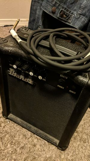 Ibanez BSA10 Bass/Guitar amp with 10ft PIG HOG guitar cable for Sale in YSLETA SUR, TX