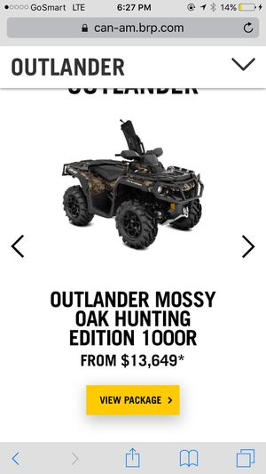 outlander mossy oak hunting edition 1000r for Sale in Baltimore, MD