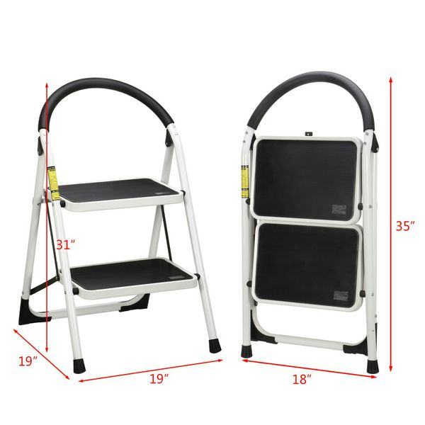 Incredible Mllieroo Portable Folding 2 Step Ladder Steel Stool Heavy Duty 330Lb Capacity For Sale In Houston Tx Offerup Pabps2019 Chair Design Images Pabps2019Com
