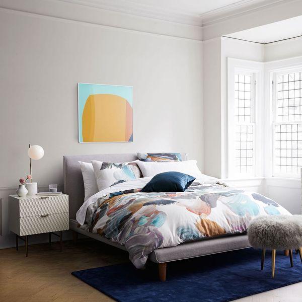 00af0bbc8c West Elm Mod Upholstered Platform Queen Bed for Sale in Baldwin ...