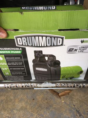 Drummond 1/2hp transfer pump 63316 harbor freight for Sale in Boca Raton,  FL - OfferUp
