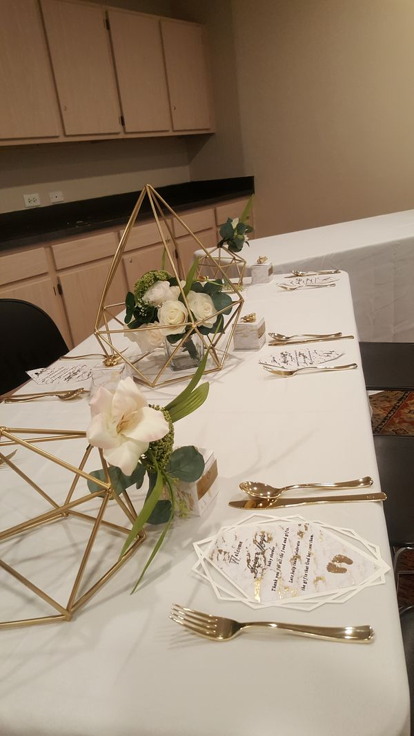 Geometric centerpieces baby bridal shower wedding decorations decor geometric centerpieces baby bridal shower wedding decorations decor for sale in houston tx offerup junglespirit Image collections