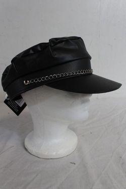 Black Biker Style Halloween/Party Cap Thumbnail