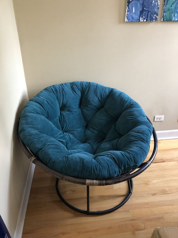 Turquoise Pier 1 Imports Papasan Chair For Sale In Chicago Il Offerup