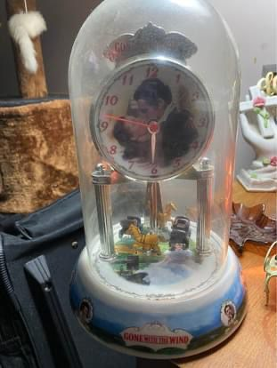 Gone With The Wind Antique Clock