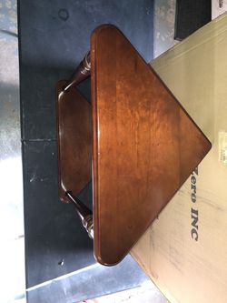 All wood Cherry Accent Table Thumbnail