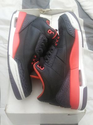 Photo 2012 Air Jordan Retro 3s Crimson Size 8.5