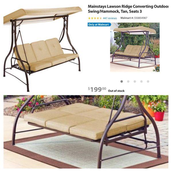 Tan Lawson Ridge 3 Seater Hammock Swing For Sale In Fort Lauderdale