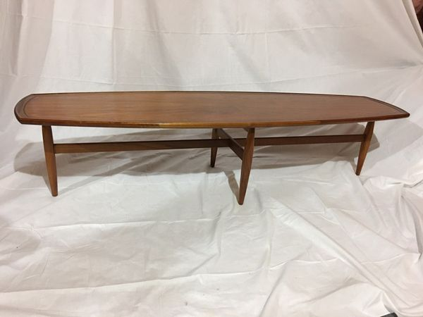 Drexel Declaration Mid Century Surfboard Coffee Table