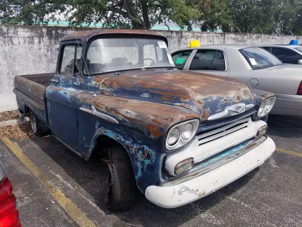 1958 Chevrolet Apache 3100 Big Window Fleetside Chevy Ford F1 F100