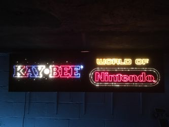 SUPER RARE ANIMATED FIBEROPTIC KAY-BEE TOYS/WORLD OF NINTENDO SIGN! MODEL M36C! KB TOYS, NES VIDEO GAMES! COLLECTIBLE! TOYS R US/KIDDIE CITY RIVAL! Thumbnail
