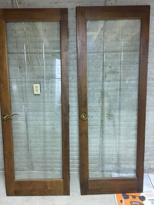 Vintage double glass doors and frame for Sale in Woodbine, MD