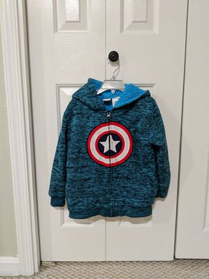 Boys Captain America hooded zip up, Size 6 for Sale in Dulles, VA