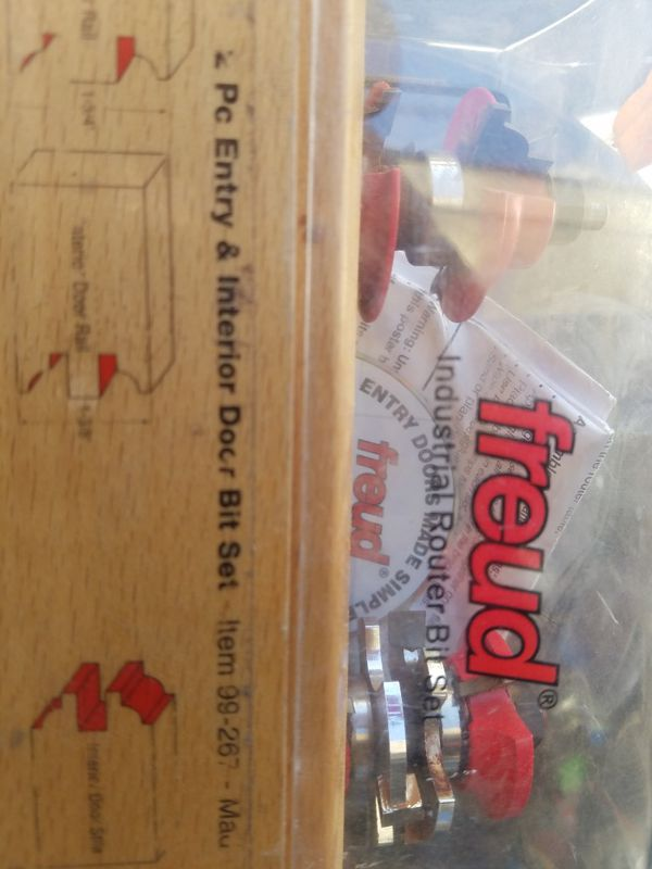 Freud Router Bits To Make Exterior And Interior Doors For Sale In