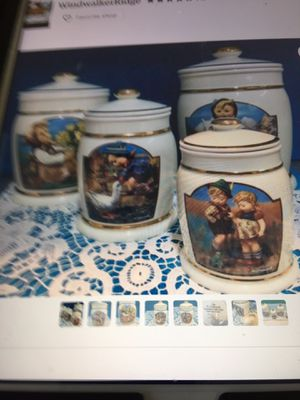 Hummel canisters with 22 k gold details for Sale in Orange Cove, CA