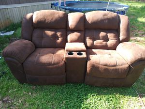 Photo Two (2) Reclining Love seats with center consoles