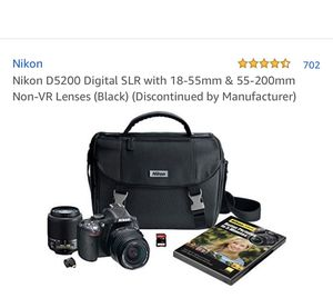 Nikon D5200 Kit with 2 Lenses for Sale in Fisherville, TN