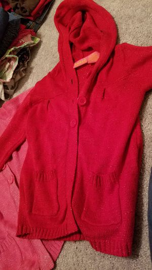 Red and pink girls size 4T cardigan sweaters for Sale in Manassas Park, VA