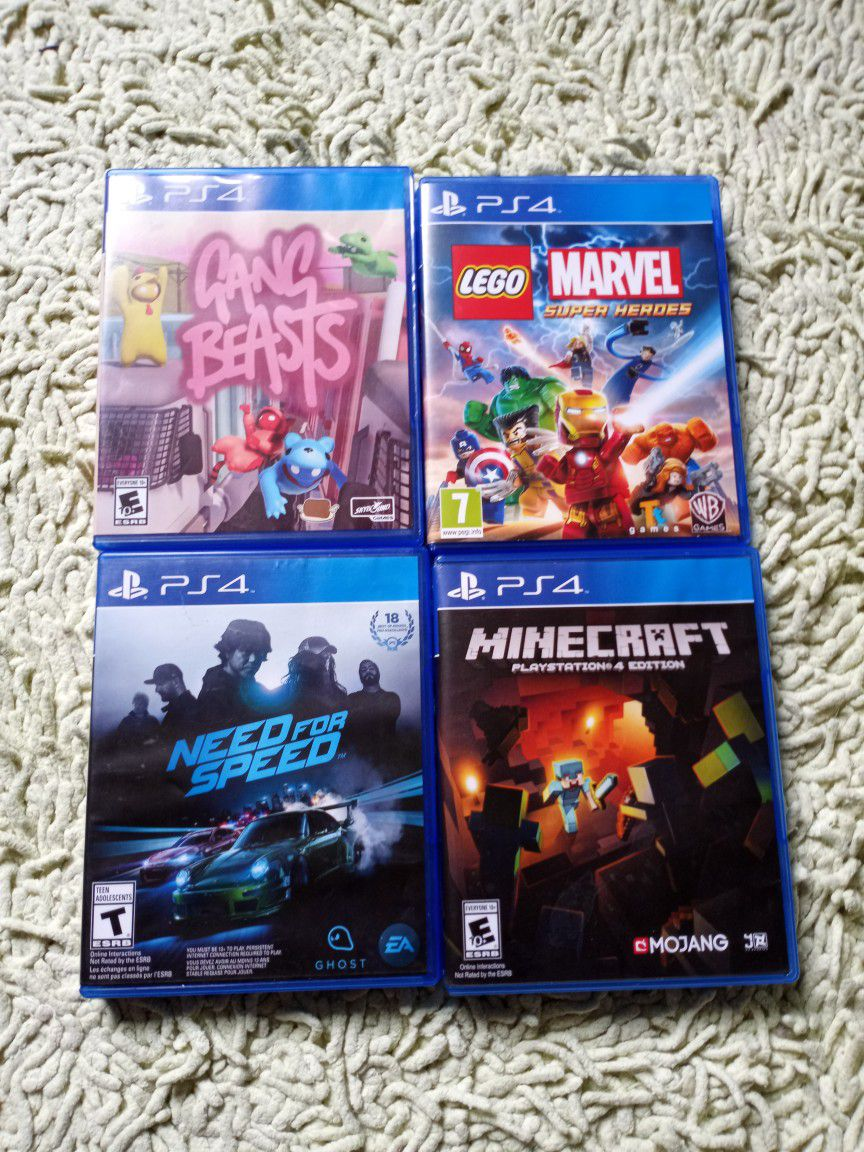 PS4 trade for Nintendo switch with at least 4 games