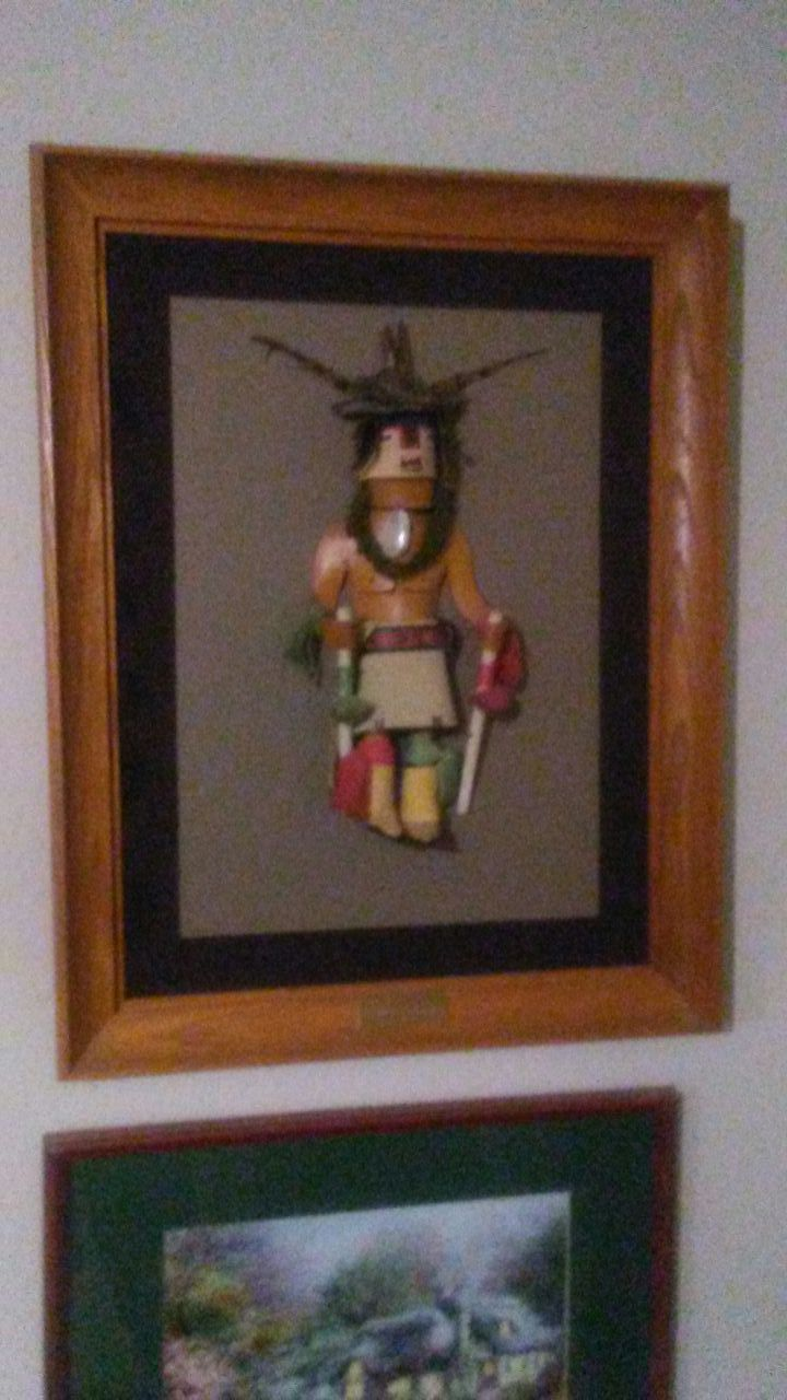 Kachina framed. Nice
