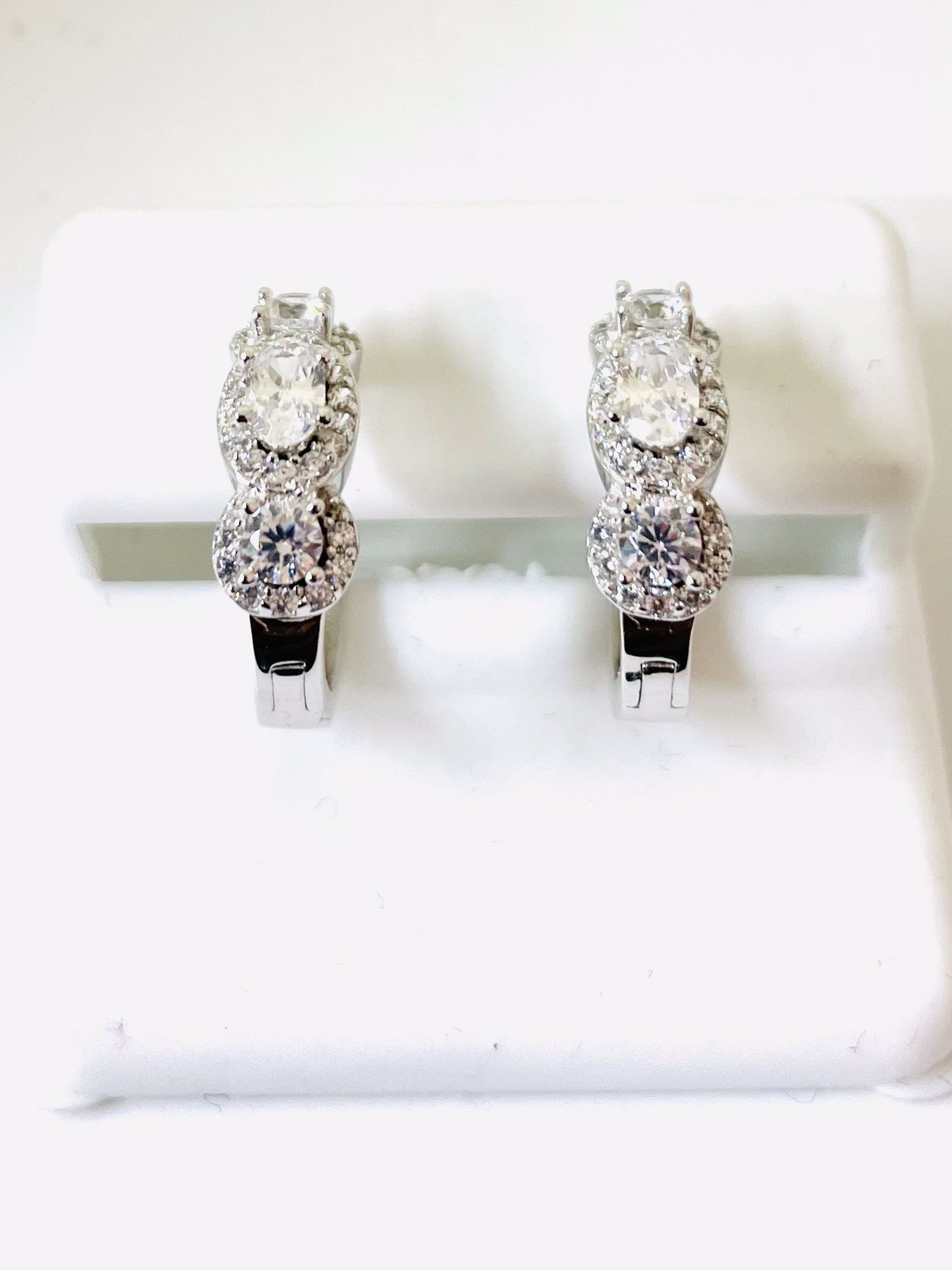 925 STERLING SILVER AND CZ EARRINGS AVAILABLE ON SPECIAL SALE