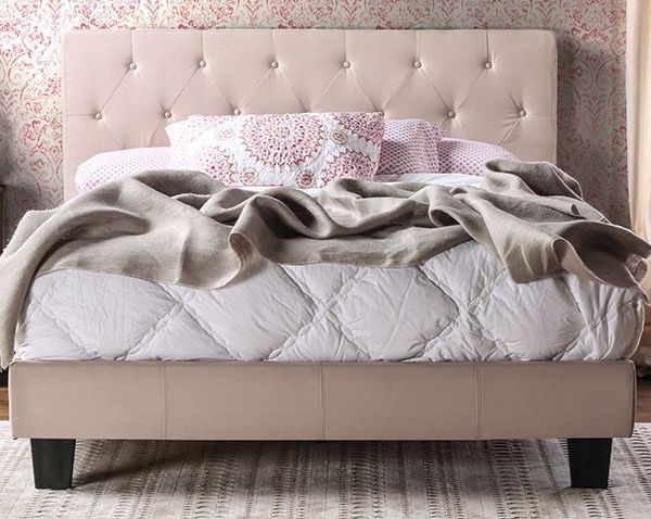 "Queen Platform Bed Frame Only Add 8"" Plush Mattress $ 139"