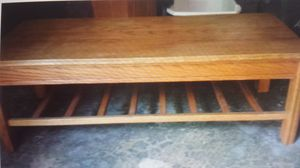 Oak coffee table and end table for Sale in Kirkland, WA