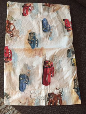 "Pottery Barn Kids Cars Pillowcase ""George"" on it for Sale in Houston, TX"