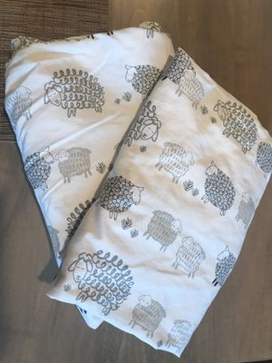 Pottery Barn Kids Sleepy Sheep crib sheets (two fitted sheets) for Sale in Alexandria, VA