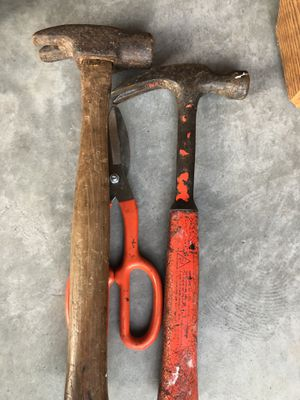 Tools - hammer , tinsnips for Sale in Morrisville, NC