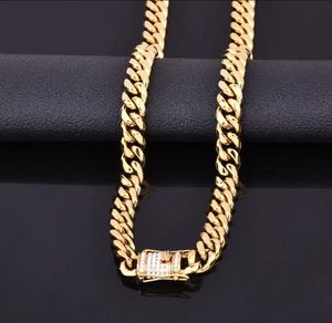 New 18 k yellow gold Cuban chain necklace for Sale in Orlando, FL