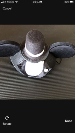Mickey & Minnie Bride & Groom Hats. Great for pictures and wedding. Disneyland is opened!  Thumbnail