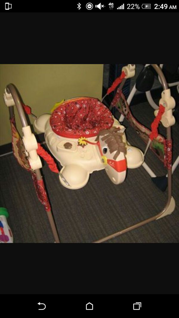 fisher price galloping horse baby bouncer for sale in sacramento ca