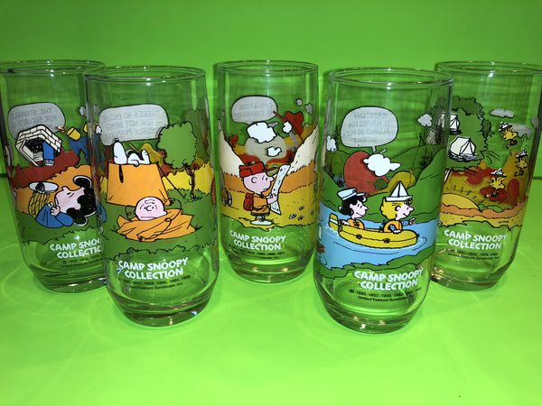 ad80d1065d Camp Snoopy Charlie Brown 1950 McDonald s glass collection for Sale in  Scottsdale