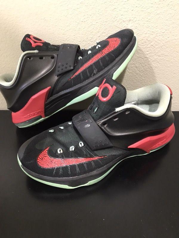 2ba8c53c92b3 Nike KD 7 Good Bad Apples Black Red 653996-063 Kevin Durant VII Basketball  Shoes Size 11.5
