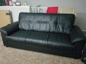 sofa couch for sale. 3 seat black leather sofa for sale in columbus, oh couch p
