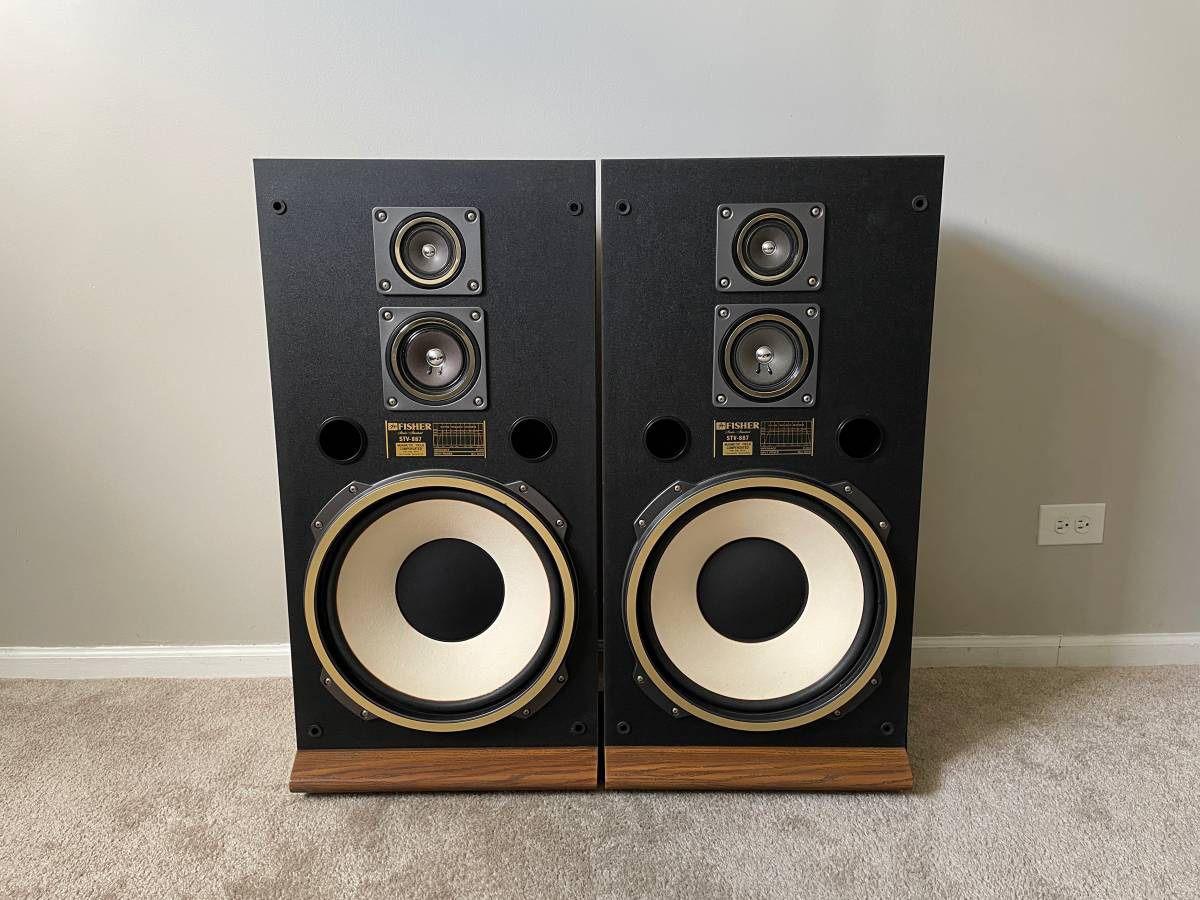 Fisher STV-887 3 Way Home Floor Standing Speakers