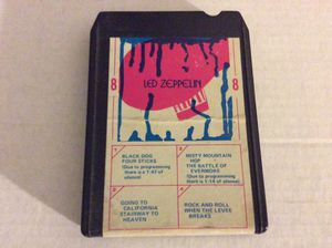 Led Zeppelin 8 track eight track cassette for Sale in St. Louis, MO