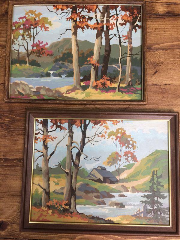 Vintage Mid Century Modern Boho Paint By Numbers