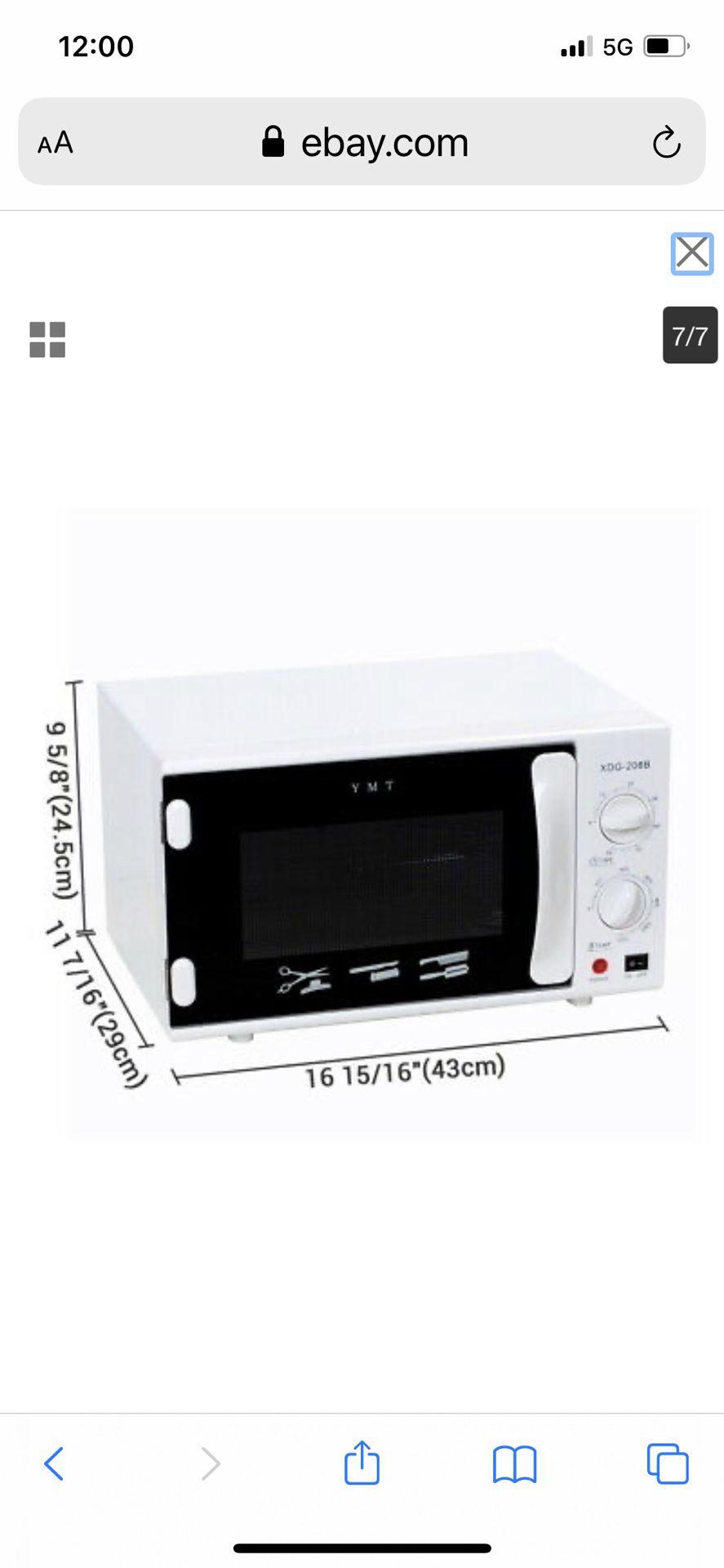 AW 12L Adjustable UV Sterilizer Towel Warmer Hot Cabinet Facial Nail Salon Spa