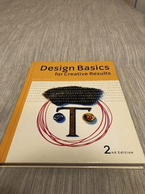 Design Basics For Creative Results Book for Sale in Philadelphia, PA