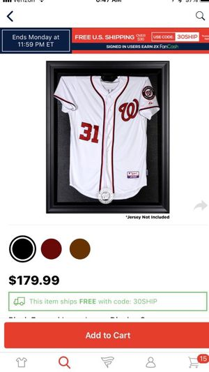 Jersey display case. Washington nationals and plain. for Sale in Stone Ridge, VA