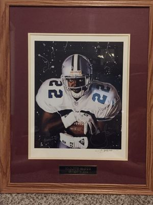 Emmitt Smith Autographed Painting for Sale in Seattle, WA