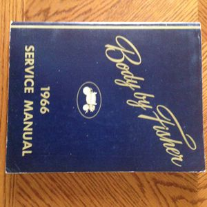 Photo 1966 Body by Fisher complete lineup service manual