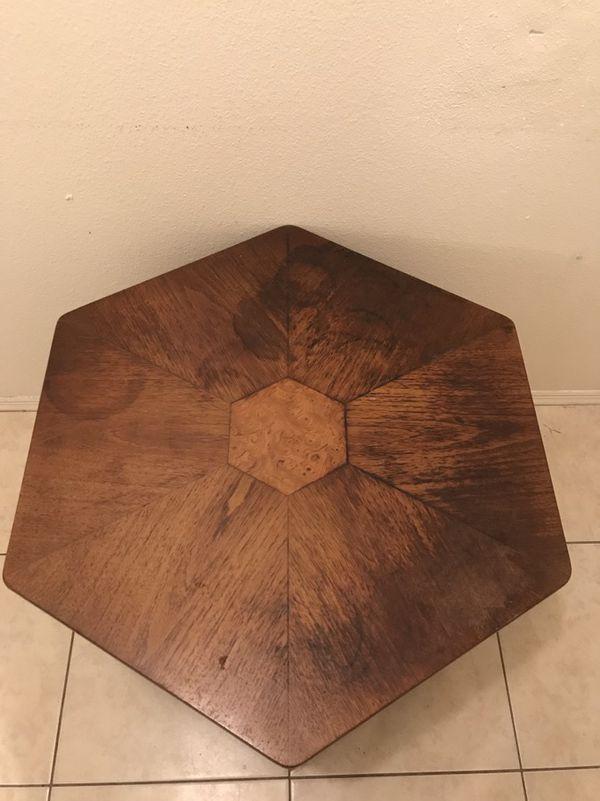 Vintage Drexel Hexagon End Table 15 Obo For In Port Charlotte Fl Offerup