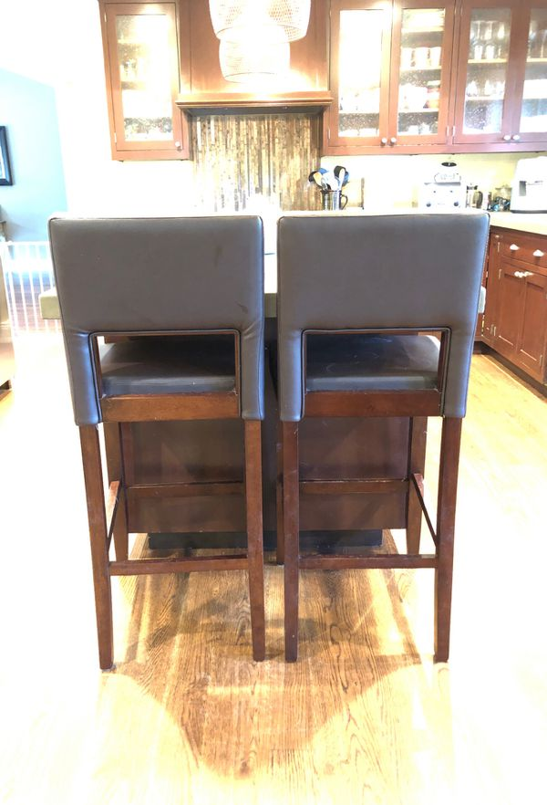 Brown Leather Barstools 2 For Sale In Diablo Ca Offerup