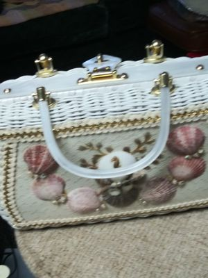 Ladies Box Purse with Seashells on it for Sale in Independence, MO