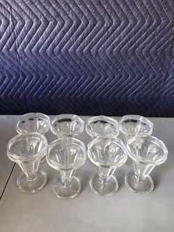 8 Vintage Ice Cream Glasses Thumbnail